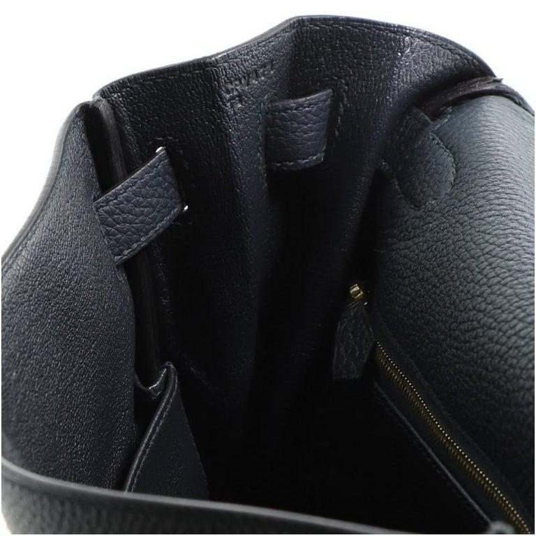 Hermes Kelly Handbag Vert Cypress Togo with Gold Hardware 32 For Sale 4