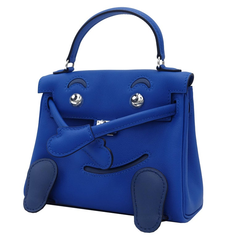 Hermès Kelly Idole Blue Zellige & Blue Agate Gold Swift Leather Palladium Hardwa In New Condition For Sale In Jakarta, IN