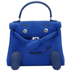 Hermès Kelly Idole Blue Zellige & Blue Agate Gold Swift Leather Palladium Hardwa