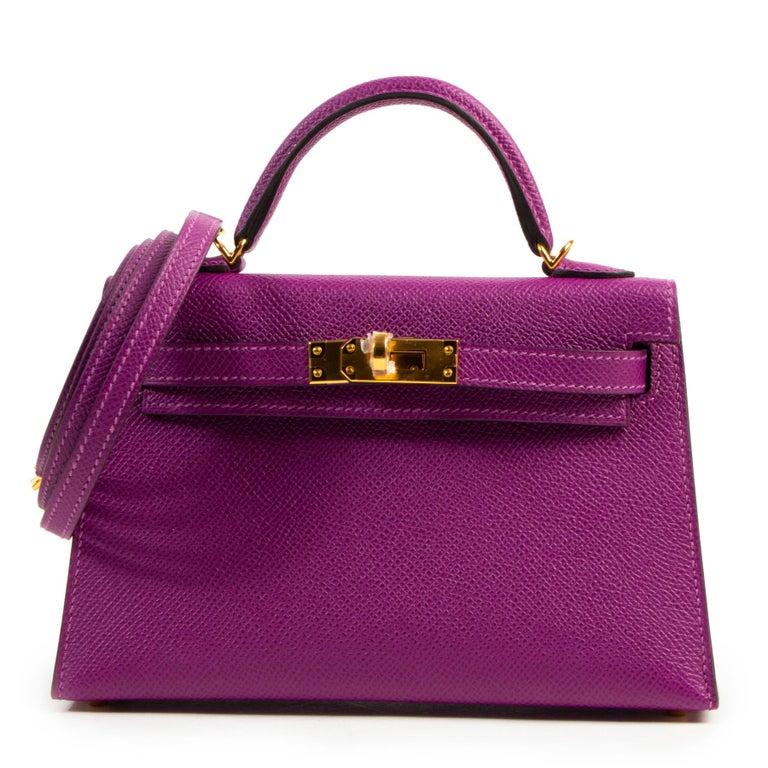 Women's or Men's Hermès Kelly II Mini 20 cm epsom Anemone For Sale