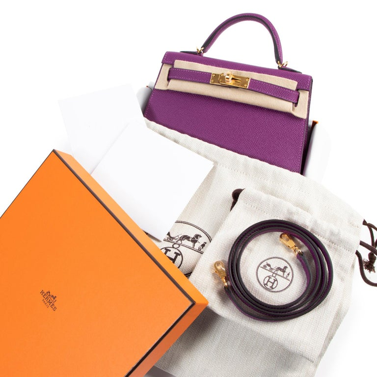 Hermès Kelly II Mini 20 cm epsom Anemone In New Condition For Sale In Antwerp, BE