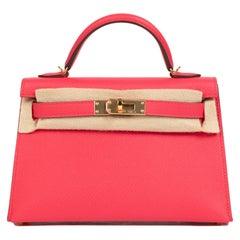 Hermès Kelly II Mini Epsom Rose Extreme GHW