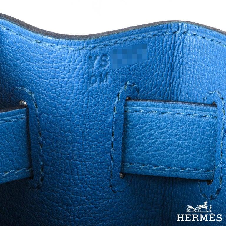 Hermès Kelly II Retourne 28cm Bleu Frida Evercolour PHW Handbag For Sale 2