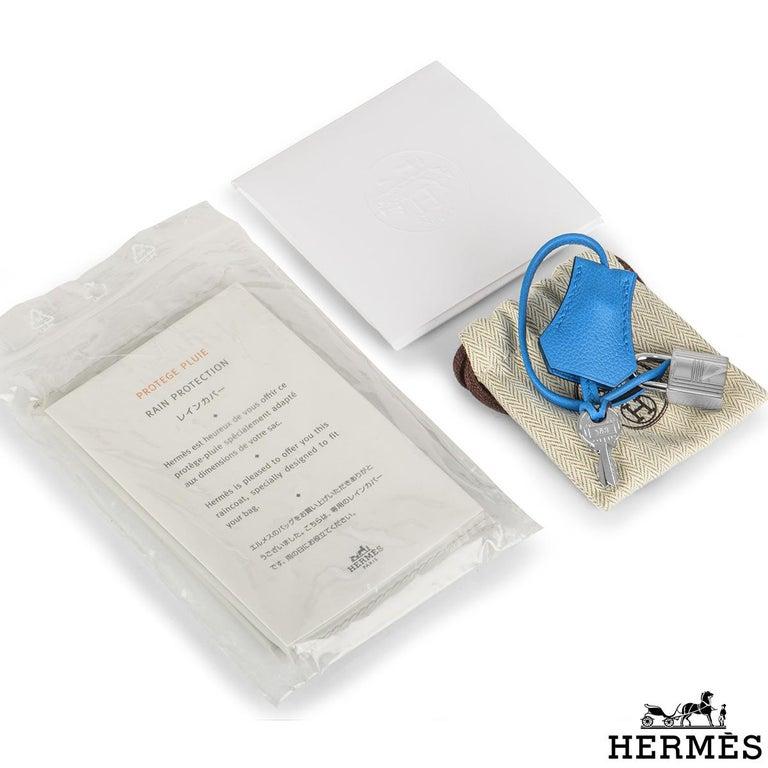 Hermès Kelly II Retourne 28cm Bleu Frida Evercolour PHW Handbag For Sale 4