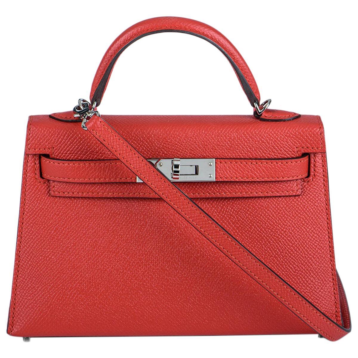 Hermès  Kelly II Sellier 20cm Epsom Rouge Tomate PHW