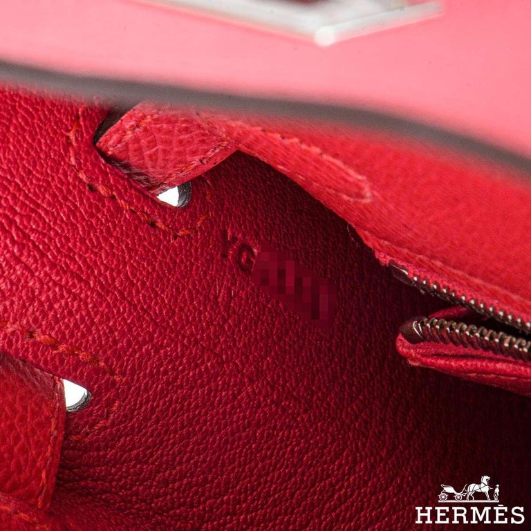 Hermès  Kelly II Sellier 25cm Epsom Rose Extreme PHW New For Sale 3