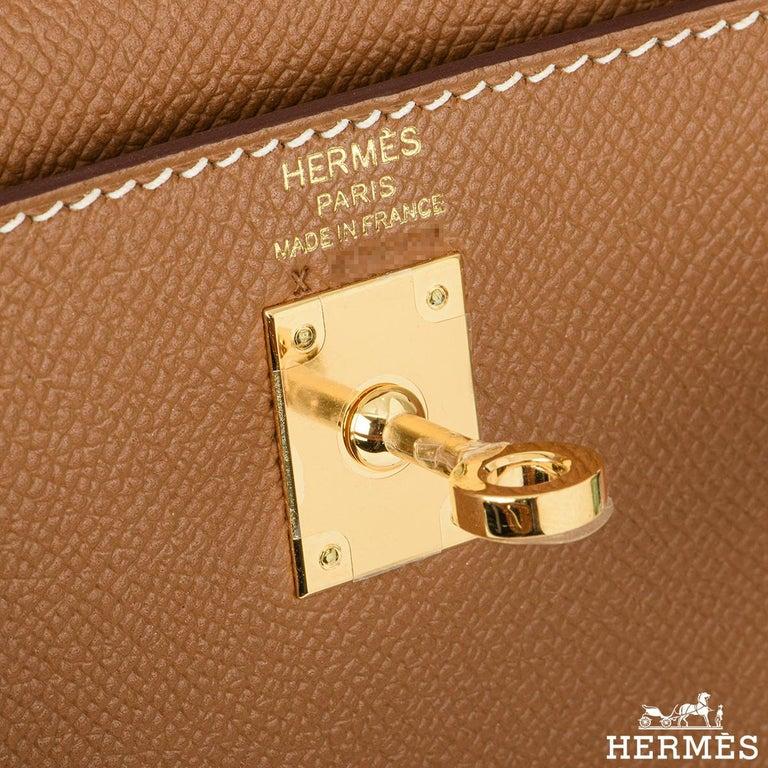 Hermès Kelly II Sellier 25cm Gold Veau Epsom Kelly Bag For Sale 1