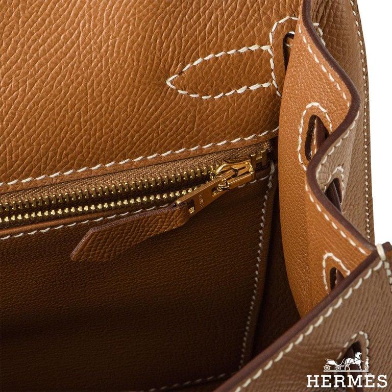 Hermès Kelly II Sellier 25cm Gold Veau Epsom Kelly Bag For Sale 2