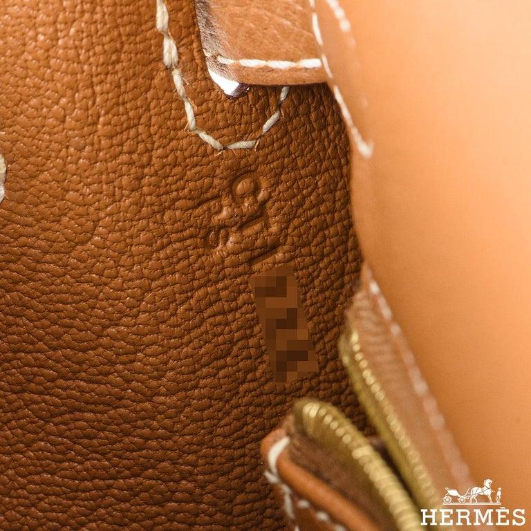 Hermès Kelly II Sellier 25cm Gold Veau Epsom Kelly Bag For Sale 3