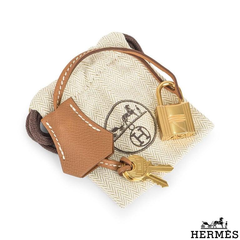 Hermès Kelly II Sellier 25cm Gold Veau Epsom Kelly Bag For Sale 4
