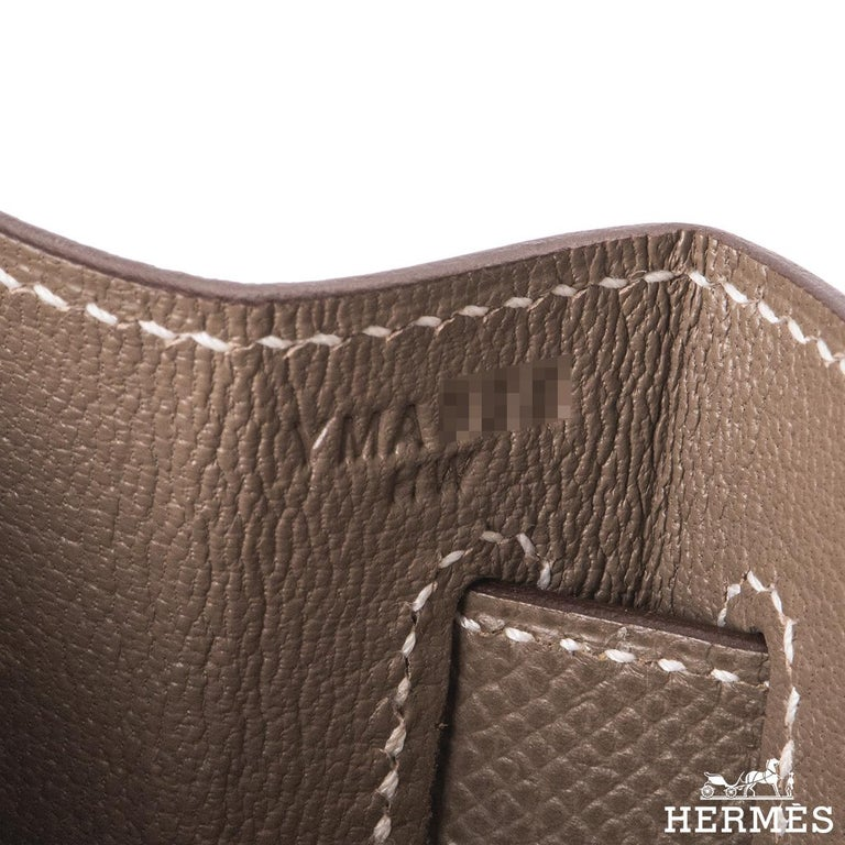 Hermès  Kelly II Sellier 32cm Epsom Etoupe GHW For Sale 3