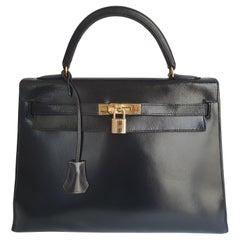 Hermès, Kelly in black leather