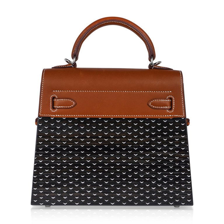 Hermes Kelly Kellywood 22 cm Wood Kelly Barenia Leather Limited Edition For Sale 5