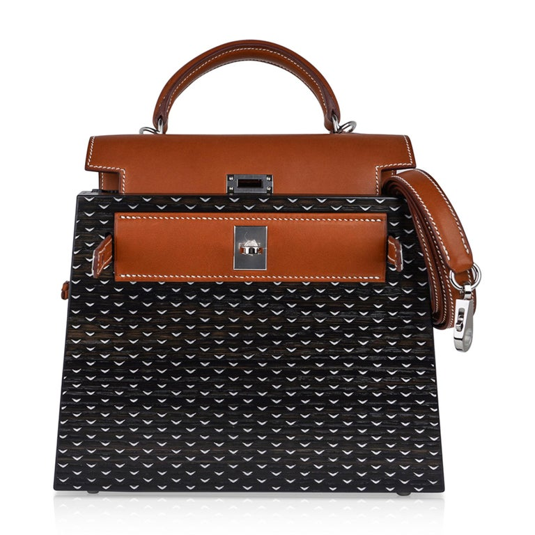 Hermes Kelly Kellywood 22 cm Wood Kelly Barenia Leather Limited Edition For Sale 6