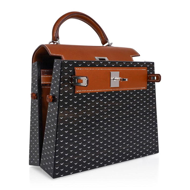 Hermes Kelly Kellywood 22 cm Wood Kelly Barenia Leather Limited Edition For Sale 8