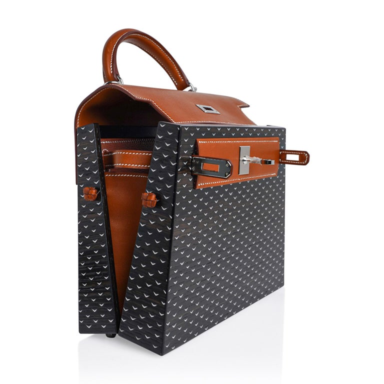 Hermes Kelly Kellywood 22 cm Wood Kelly Barenia Leather Limited Edition For Sale 9