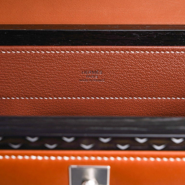 Hermes Kelly Kellywood 22 cm Wood Kelly Barenia Leather Limited Edition For Sale 10