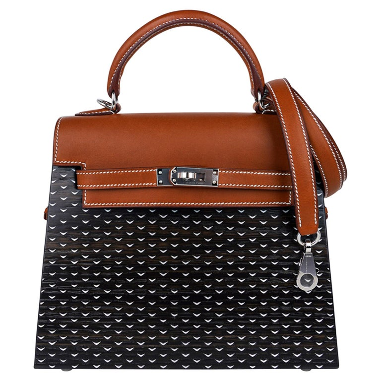 Hermes Kelly Kellywood 22 cm Wood Kelly Barenia Leather Limited Edition For Sale