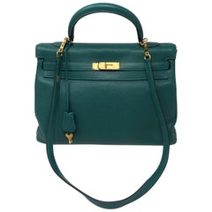 Hermes Kelly Malachite 35 Bag