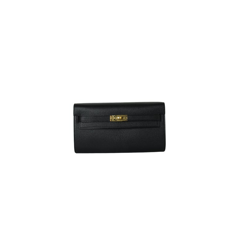 Hermes Kelly Mysore To-Go Gold Hardware Noir In New Condition For Sale In Flushing, NY