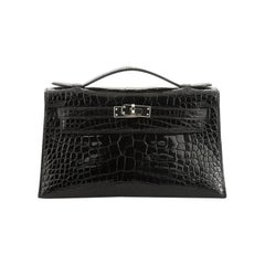 Hermes Kelly Pochette Shiny Alligator