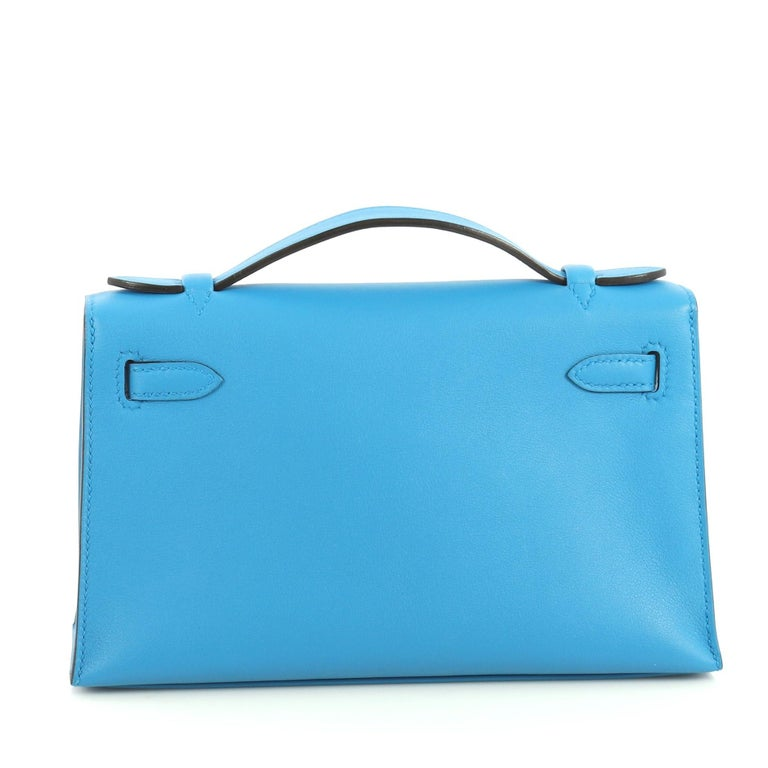 Hermes Kelly Pochette Swift In Excellent Condition For Sale In New York, NY