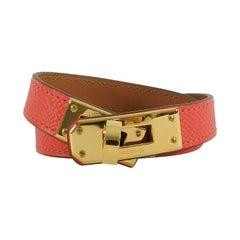 Hermes Kelly Rose Jaipur Double Tour Bracelet