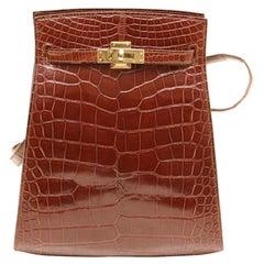 Hermes Kelly Sports Alligator Shoulder Bag from 1994 , Like New