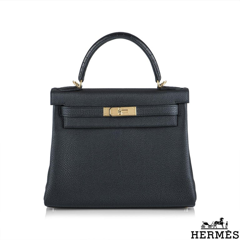 An unworn limited edition Hermès Touch kelly 28 cm bag. The exterior of this Kelly