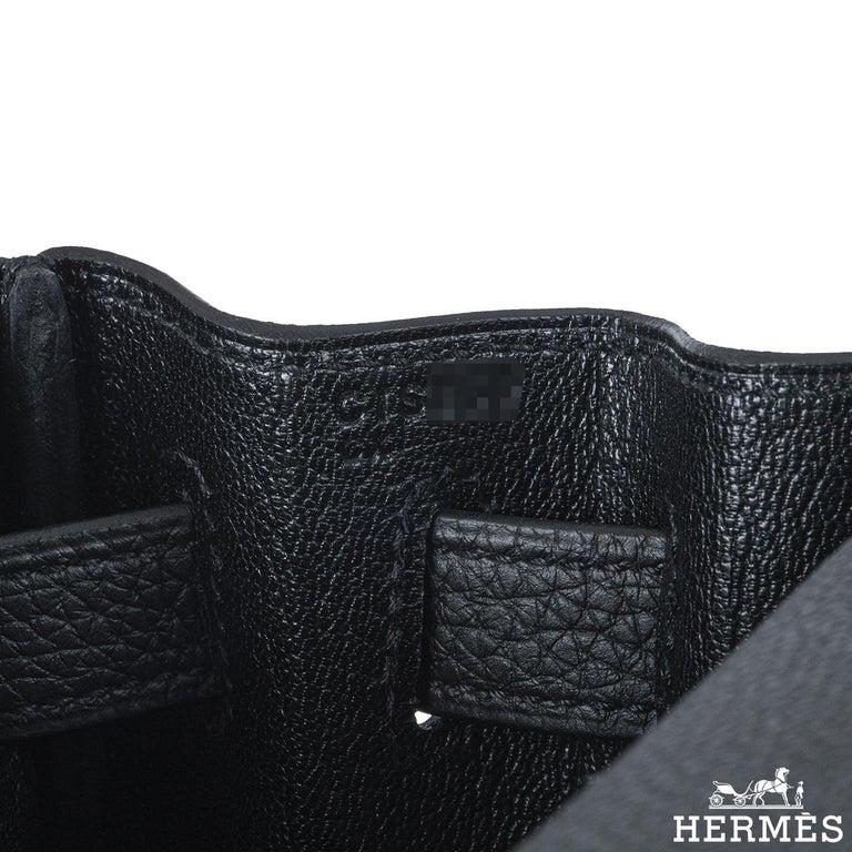 Hermès Kelly Touch 28 cm Noir Matte Alligator and Noir Togo GHW 2