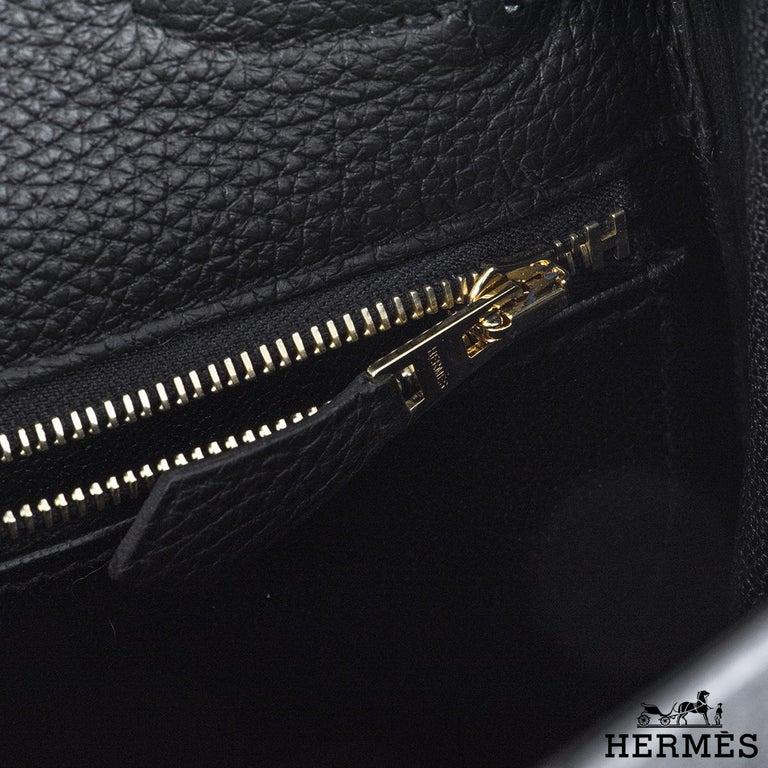 Hermès Kelly Touch 28 cm Noir Matte Alligator and Noir Togo GHW 3
