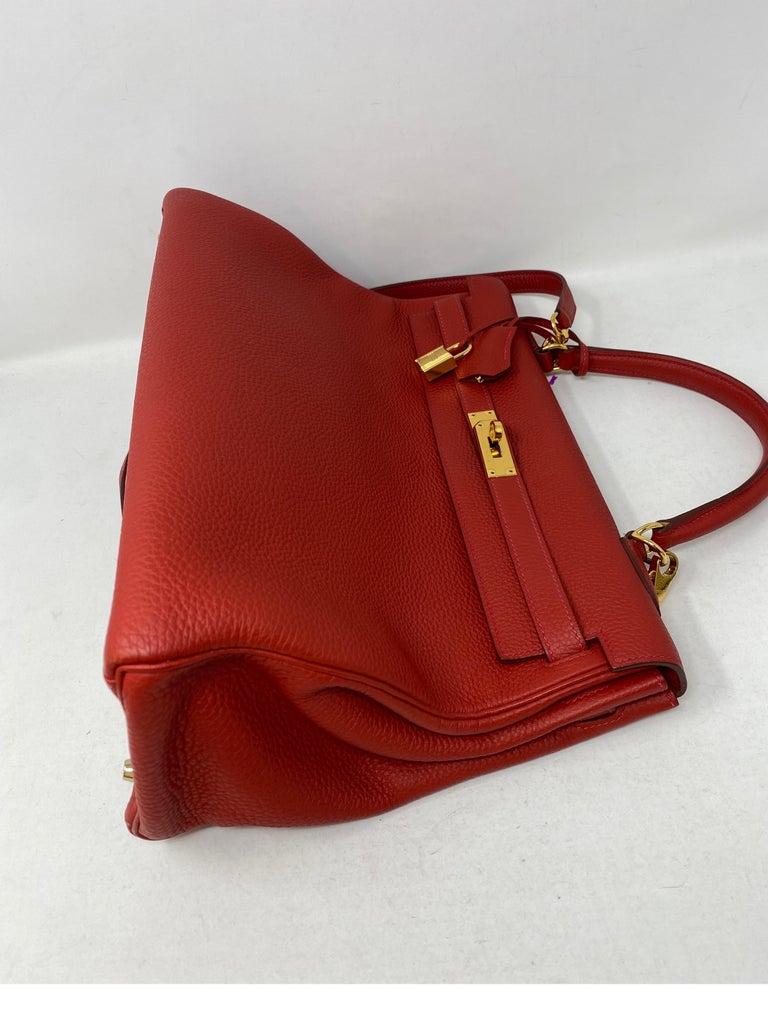 Hermes Kelly Vermilion Red 35 Bag For Sale 6
