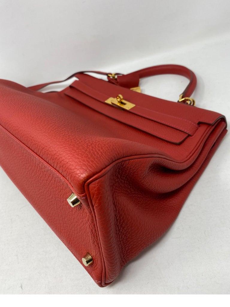 Hermes Kelly Vermilion Red 35 Bag For Sale 8