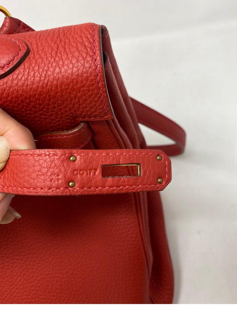 Hermes Kelly Vermilion Red 35 Bag For Sale 10