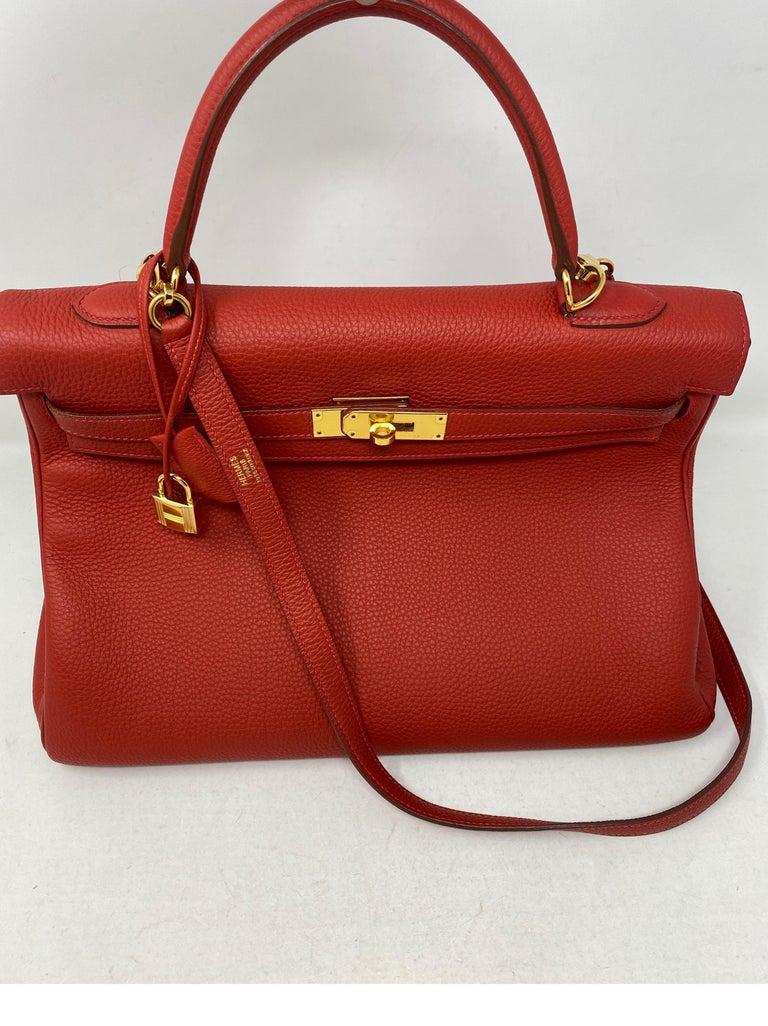Hermes Kelly Vermilion Red 35 Bag For Sale 1