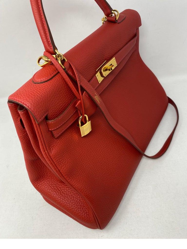 Hermes Kelly Vermilion Red 35 Bag For Sale 3