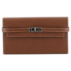 Hermes  Kelly Wallet Chevre Mysore Long