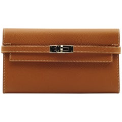 Hermès Kelly Wallet Gold Epsom Leather Palladium Hardware