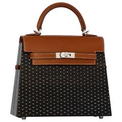 1stdibs Exclusives Hermès Limited Edition Kelly 22cm Wood Palladium Hardware