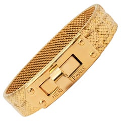 Hermès 'Kelly' Yellow Gold Bracelet, Medium Model