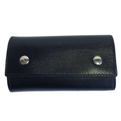 HERMES Key Holder in Black Box Leather