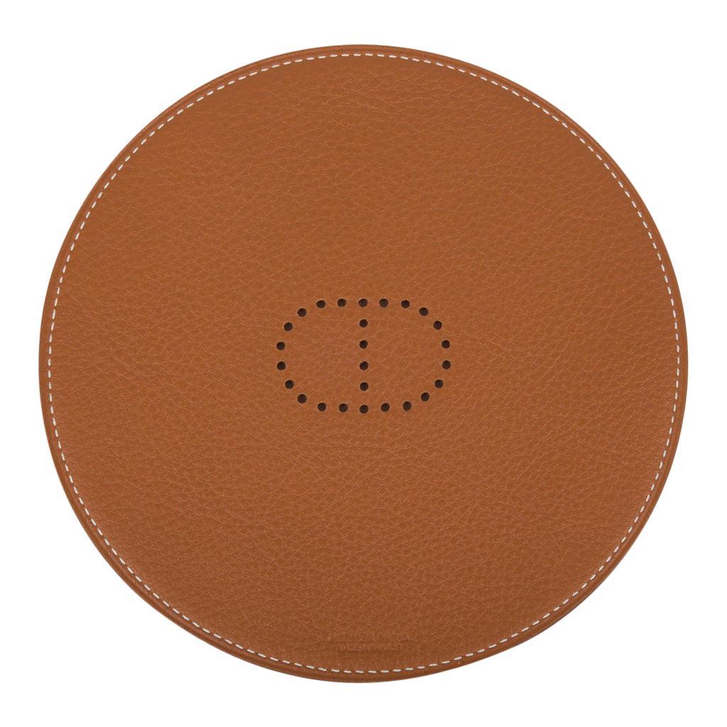 Hermes Kezako Round Mini Pad For the Desk Bi Color Rouge H Gold