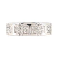 Hermes Kilim Ring 18k White Gold and Diamonds