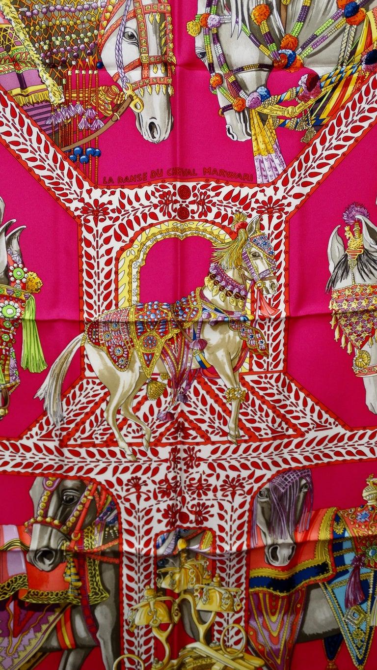 Hermès 'La Danse du Cheval Marwari' Silk Scarf  6