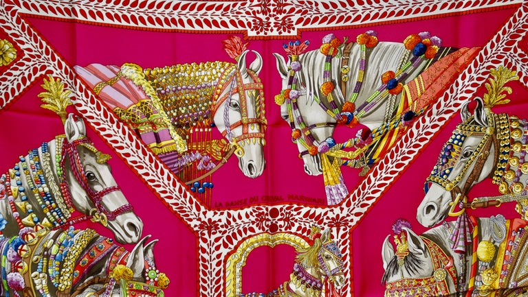 Hermès 'La Danse du Cheval Marwari' Silk Scarf  7