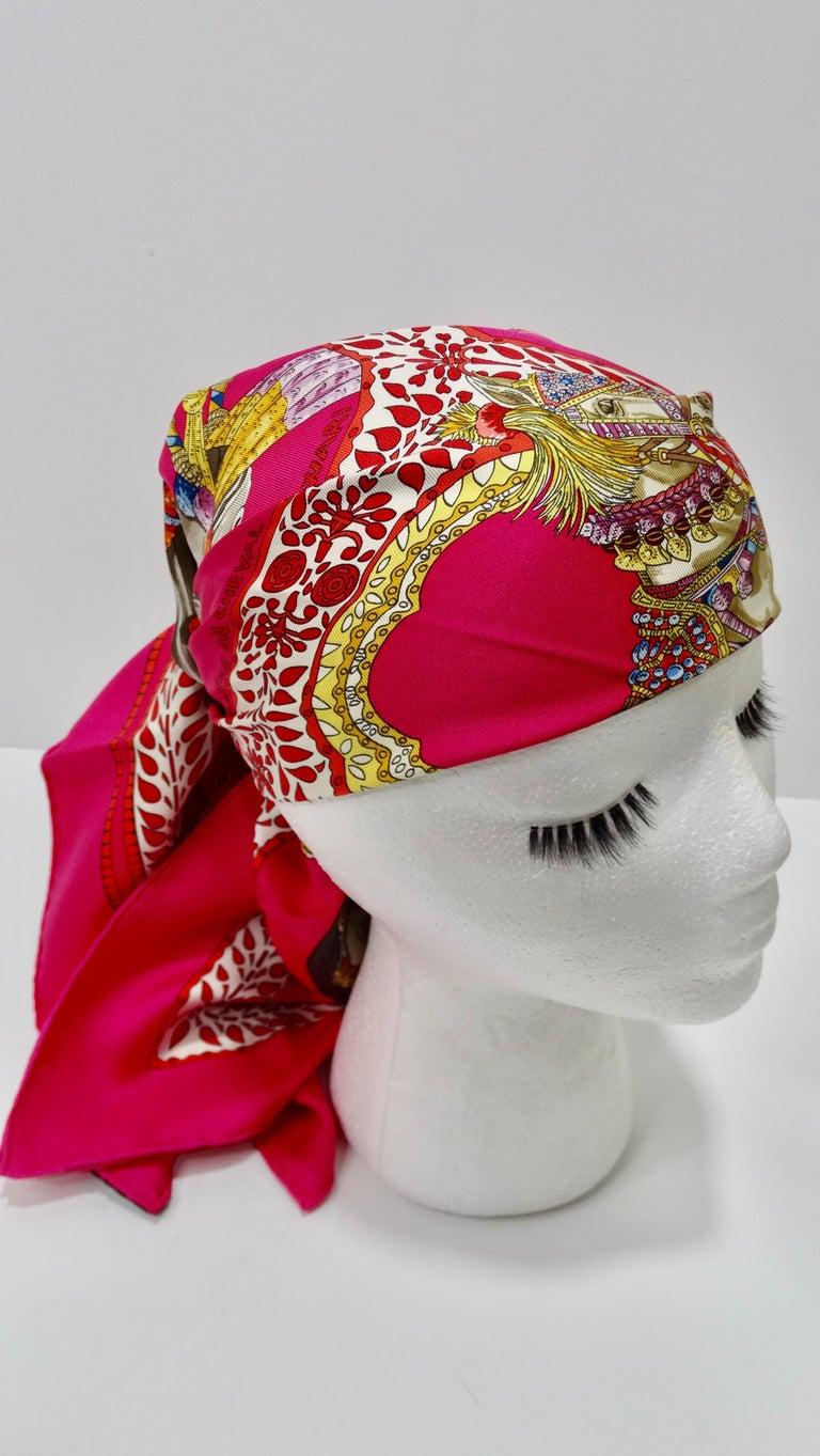 Hermès 'La Danse du Cheval Marwari' Silk Scarf  In Good Condition In Scottsdale, AZ