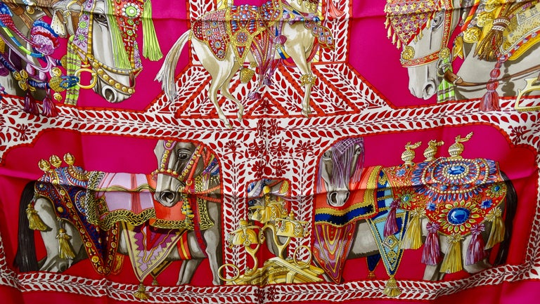 Hermès 'La Danse du Cheval Marwari' Silk Scarf  1