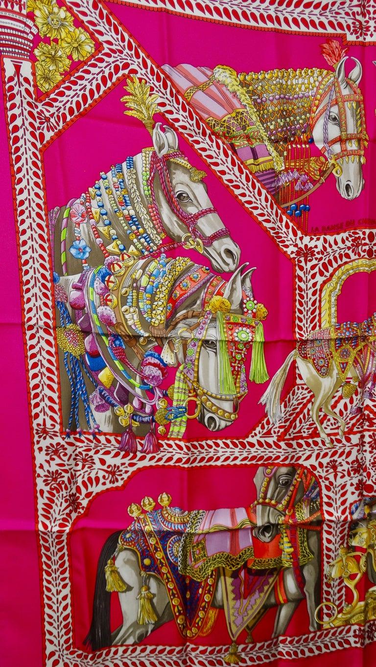 Hermès 'La Danse du Cheval Marwari' Silk Scarf  3