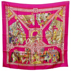 Hermès 'La Danse du Cheval Marwari' Silk Scarf