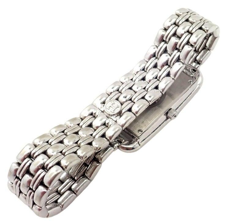 Women's or Men's Hermès Ladies White Gold Diamond Cape Cod Nantucket Quartz Wristwatch For Sale
